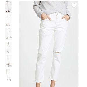 NWOT AGOLDE Isabel Mid-Rise Slim Straight Jeans
